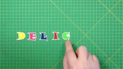 Popular English words. delicacy - stock footage