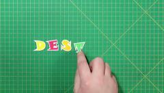 Popular English words. destiny Stock Footage