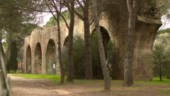 Ancient Archways at Roman Arena Ruins in FREJUS, FRANCE - stock footage