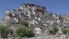 Thiksey Monastary,Thiksey,Ladakh,India Stock Footage