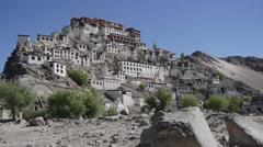 Thiksey Monastary,Ladakh,Ladakh,India Stock Footage