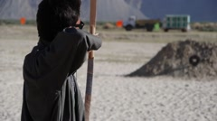 Stock Video Footage of Archery missing,Ladakh,Ladakh,India