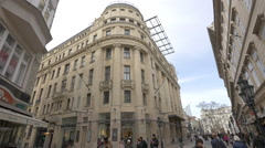The OTT Properties building on Vaci Street in Budapest Stock Footage