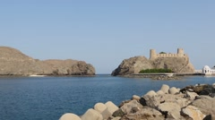 Panoramic view of the bay of Muscat, Oman 2 Stock Footage