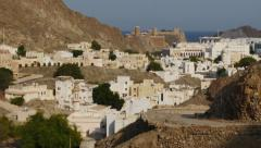 Panoramic view of the city of Muscat, Oman - stock footage