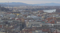 Budapest cityscape in the afternoon Stock Footage