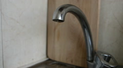 dripping faucet - stock footage