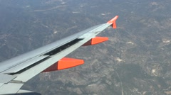 Passenger view from Airbus A319/320 flying over northern Spain. Stock Footage
