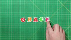 Popular English words. grace - stock footage