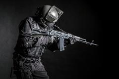 Russian special forces Stock Photos