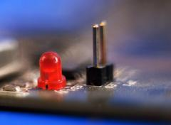 Red led diode Stock Photos