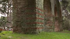 Stone Archway of Ancient Roman Arena in FREJUS, FRANCE Stock Footage