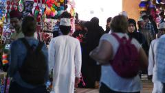 People in a bazar in Muscat, Oman Stock Footage