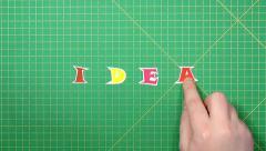 Popular English words. idea Stock Footage