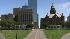 Old Red Court House Dealey Plaza Main Street Dallas Stock Footage