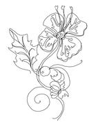Stock Illustration of Floral flower sketch