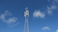 Cellphone tower. Real time clouds. Stock Footage