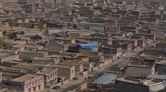 View over City,Litang,China, Peoples Rep Stock Footage