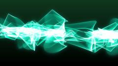 Animated abstract blue energy rotating lines on the dark green background Stock Footage