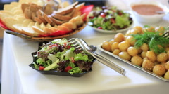 Beautiful delicious dishes Stock Footage