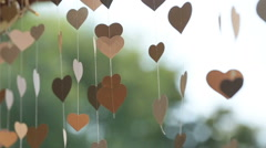 Wedding decoration heart Stock Footage