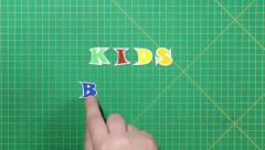 Stock Video Footage of Popular English words. kids books