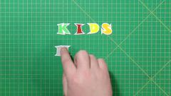 Stock Video Footage of Popular English words. kids menu