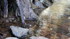 Small Stream Water Drops Stevens Trail 2 Stock Footage