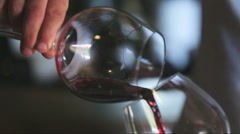 A glass of wine Stock Footage