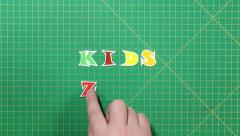 Stock Video Footage of Popular English words. kids zone