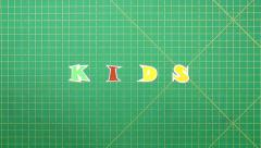 Stock Video Footage of Popular English words. kids