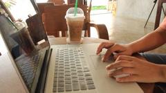Freelance Serving Internet At Espresso Shop HD Stock Footage