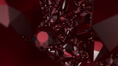 Abstract gems in dark red Stock Footage