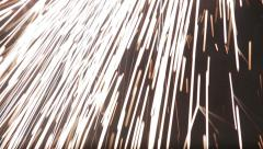 falling sparks new - stock footage