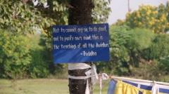 The teachings of Buddha,Lumbini,Nepal Stock Footage