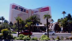 Palms near Mirage hotel, Las Vegas Strip in Las Vegas, Nevada. Stock Footage