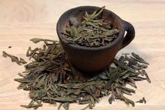 Tea leaves - stock photo