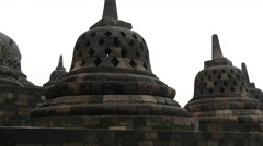 Pan from the Borobudur a 9th-century Mahayana Buddhist Temple Stock Footage