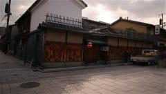 5K Motion Control Pan/Tilt Time Lapse of Hanamikoji Street in Gion, Kyoto Stock Footage