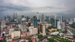 Kuala Lumpur Day to Night Time-lapse with Petronas Towers and KL Tower Visible Stock Footage