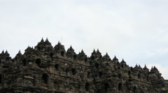 Time lapse from the Borobudur a 9th-century Mahayana Stock Footage