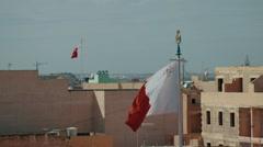150fps - Maltese Flags Stock Footage