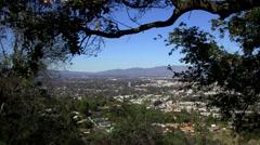 SAN FERNANDO VALLEY through trees - stock footage