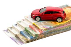 car swiss franc - stock photo