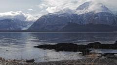 Alaska Chilkat Davidson Glacier Dolly In Stock Footage