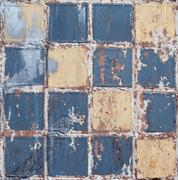 Old dirty colorful tile background - stock photo