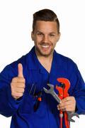Handyman with tool Stock Photos