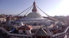 Boudhanath Stupa,Kathmandu,Nepal Stock Footage