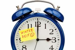 Time switch to winter time Stock Photos