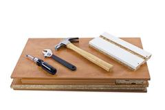 Do it Yourself Carpentry Project Shelf Stock Photos